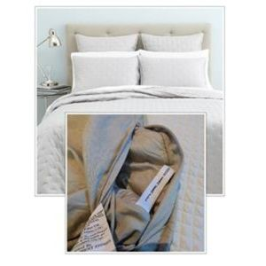 OAKE Box Quilted Standard Sham, Silver
